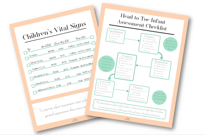 Infant assessment checklist
