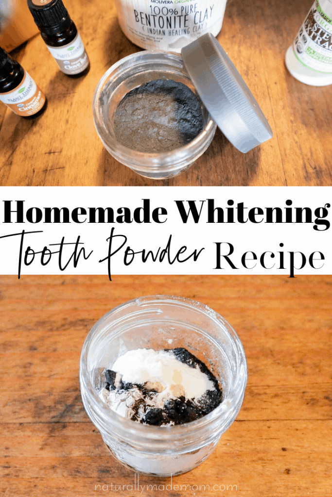 Homemade Remineralizing & Whitening Tooth Powder Recipe with Activated Charcoal. Natural tooth powder recipe #toothpowderrecipe #remineralizingtoothpowder